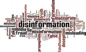 disinformation word art